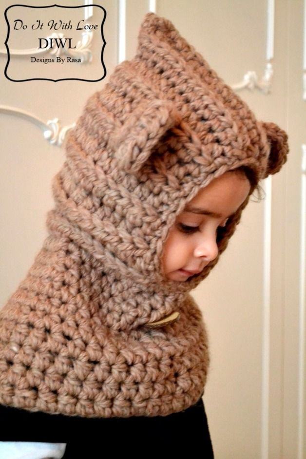 ❤ This Teddy Hood is handcrafted and designed with comfort and warmth in mind...  This hooded cowl make's a wonderful gift and of course also something great for you or your little one!  This...