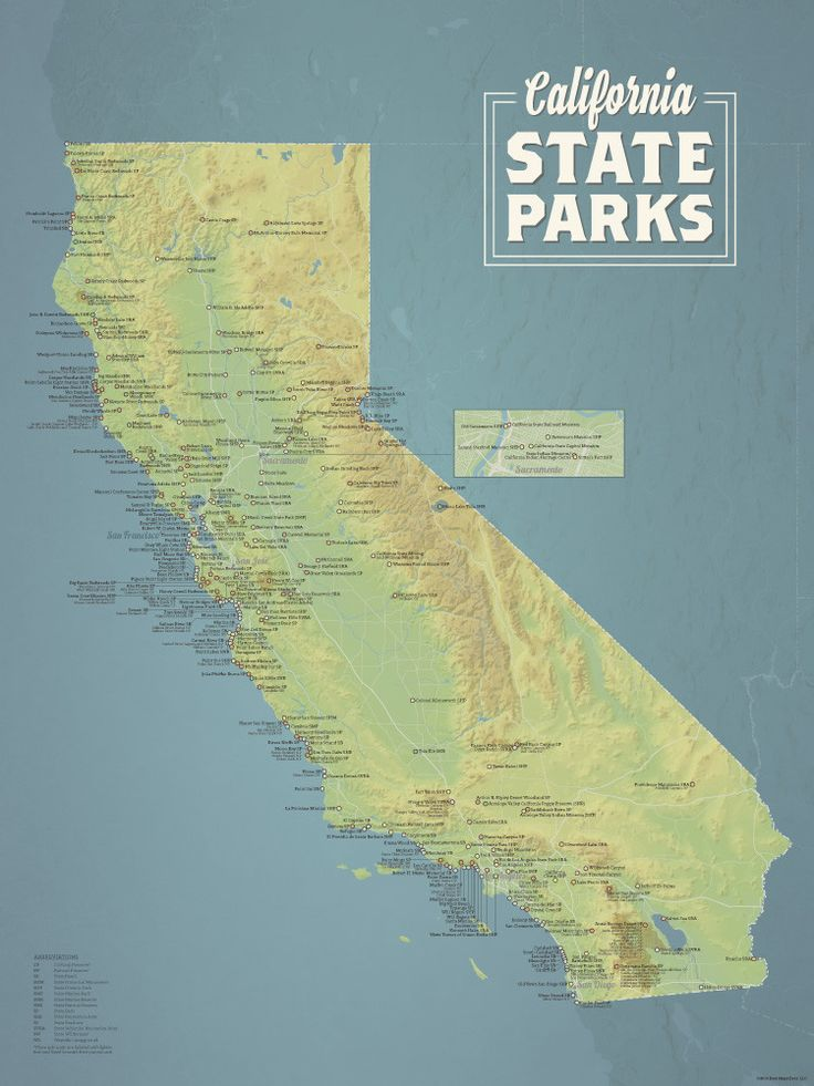 California State Parks Map 18x24 Poster 22