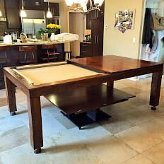 Modern Pool Table Dining Table Convertible Billiards Table-Custom Pool Table-Living Room Billiard Table