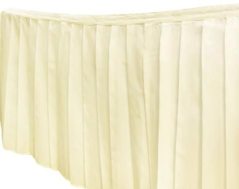Polyester Table Skirts - Ivory