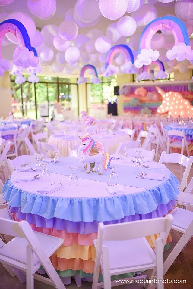 Stella S Magical Unicorn Themed Party Table Centerpiece