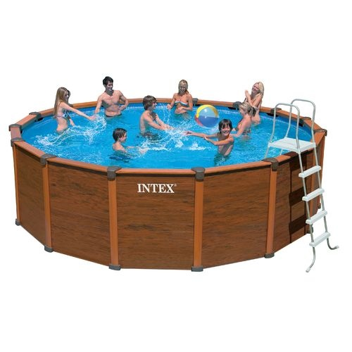 intex sequoia spirit wood grain 18 5 39 x 53 round pool