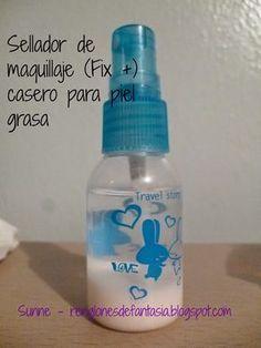 Renglones de Fantasía: Fix + casero - sellador de maquillaje casero para piel grasa - receta probada