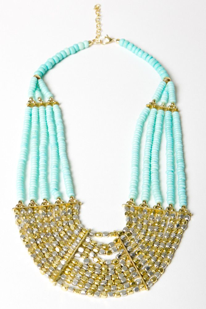 turquoise/gold/silver