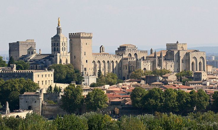 Palais des Pape/ The Palace of the Popes in  Avignon. It is both fortress and palace. Six conclaves were held here which led to the election of Benedict XII in 1335, Clement VI in 1342, Innocent VI in 1352, Urban V in 1362, Gregory XI in 1370 and Benedict XIII in 1394.