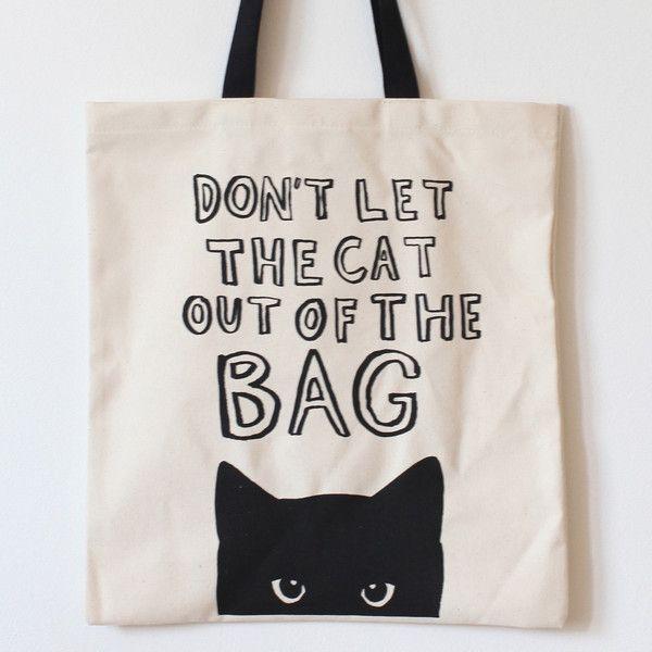 Tote bag cute cat