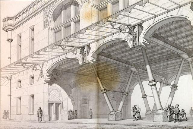 Dibujo de Violet-le-Duc en su obra Entretiens sur l'architecture.