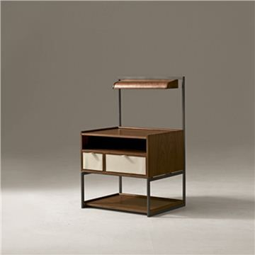 Giorgetti SYN Bedside Cabinet - Style # 54300-54301, Modern Bedside Tables & Nightstands | End Tables | Contemporary Small Bedside Table | S...