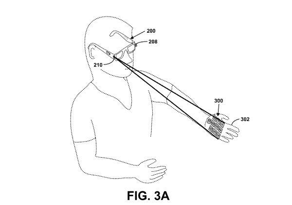 Google's laser keyboard patent application.
