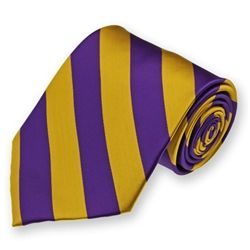 It's a bird! It's a plane! It's a handsome ECU man in a purple and gold tie!