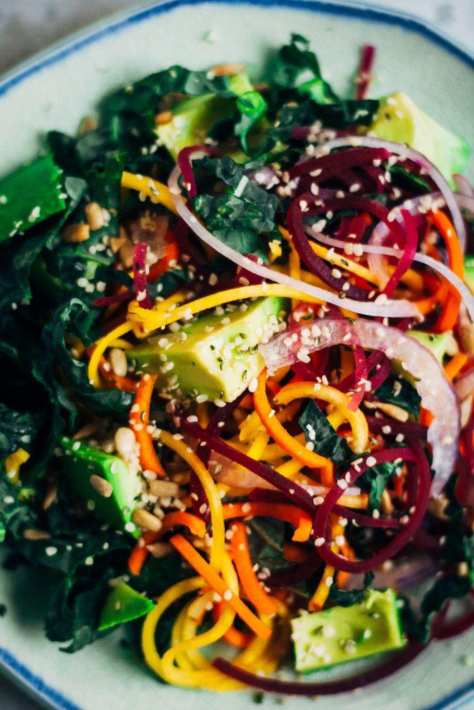 Rainbow Chakra Salad   Well and Full   #plantbased #yoga #recipe