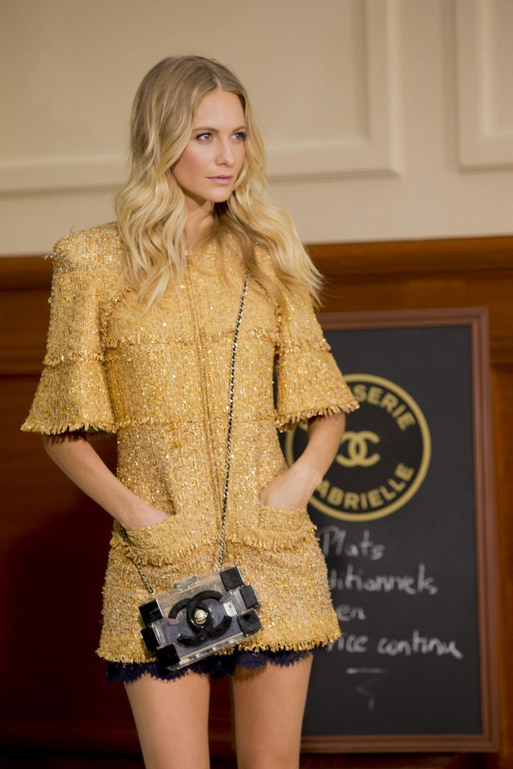 Golden girl Poppy Delevingne backstage at Chanel