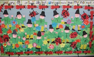 Leprechaun and Insects Bulletin Board
