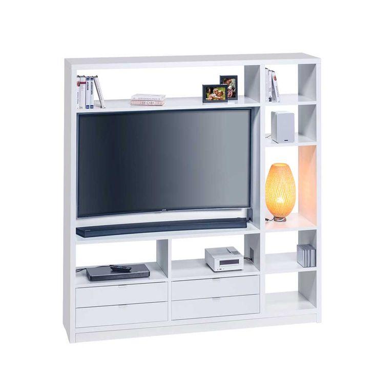 Fernseher Raumteiler In Weiß Modern Jetzt Bestellen Unter:  Https://moebel.ladendirekt.de/wohnzimmer/regale/raumteiler/?uidu003debad442a 8344 5451 99fb   ...