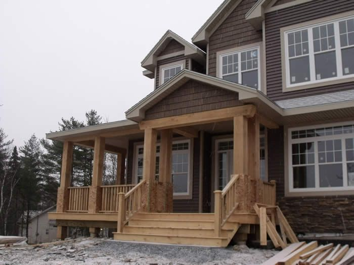 14 best mountain house siding images on pinterest for Log cabin sunroom additions
