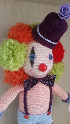amigurumi, amigurumi doll, handmade doll, crochet doll, amigurumi bebek, elişi bebek, örgü bebek, amigurumi clown