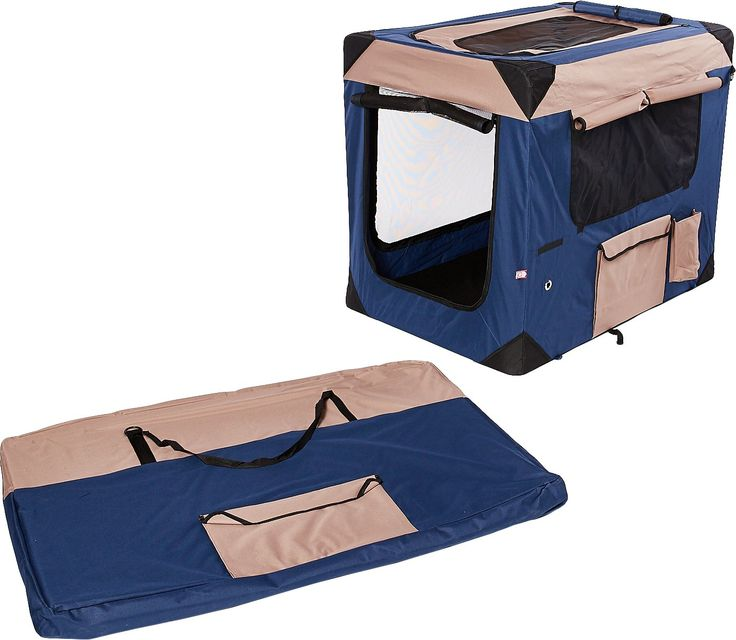 The Dogit Deluxe Soft Dog Crate is light-weight and durable, made from tough waterproof fabric and is great for either indoor or outdoor use.