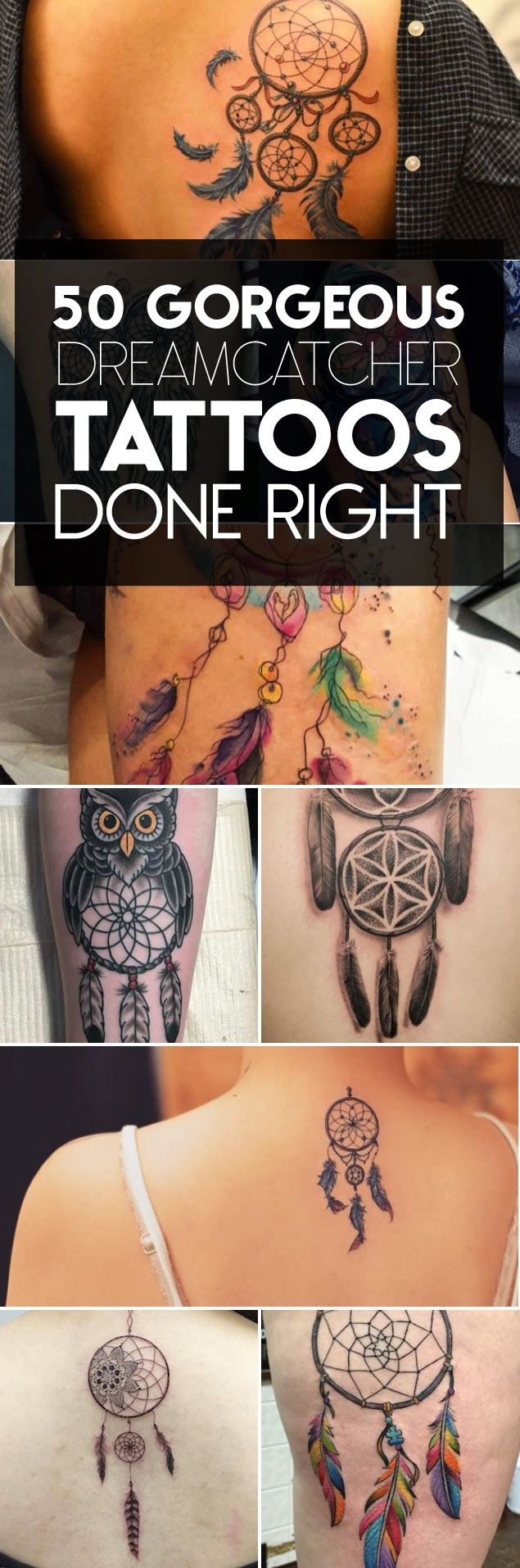 Amazing Dreamcatcher Tattoo Designs & Ideas