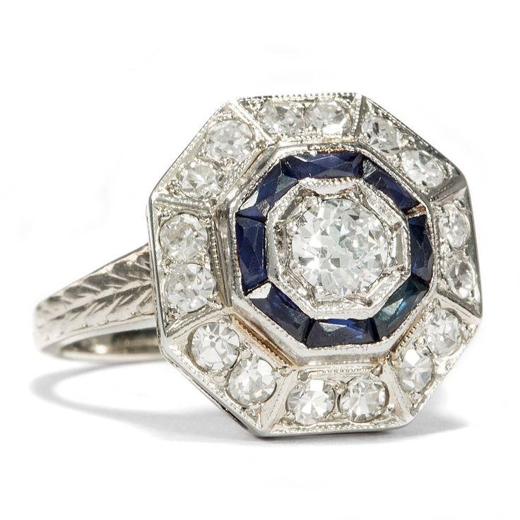 Diamantring verlobung blau  Die 25+ besten blauer Saphirringe Ideen auf Pinterest | Halskette ...