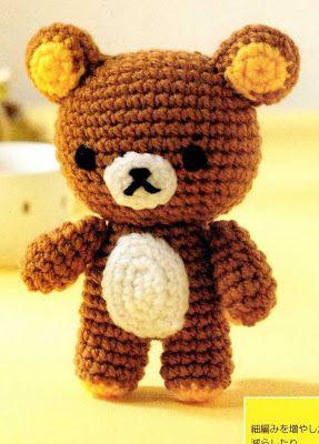 El blog de Noe - Aguja, lana y tijeras: Desafio 30 amigurumis Nº16: Oso tumbado panza abajo
