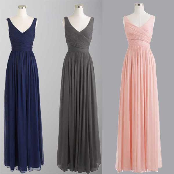 Royal Blue Bridesmaid Dresses,Floor Length Bridesmaid Gown,Summer Bridesmaid