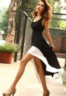 Individual Sleeves Backless Swallow-Tailed Dress Black $11.08.