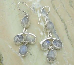 17.20ctw Genuine Rainbow Moonstone & .925 Sterling Silver Plated Brass Dangle Earrings (SJHE0004RMS) #fashionearrings #fancyearrings #silverplatedearrings #platedearrings #brassearrings Buy Now: http://www.sterlingsilverjewelry.tv/genuine-rainbow-moonstone-silver-plated-brass-dangle-earrings-sjhe0004rms.html