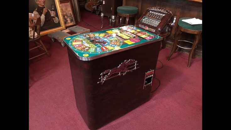 1937 BUCKLEY Horse Racing Track-Odds Slot Machine FOR SALE $8,995