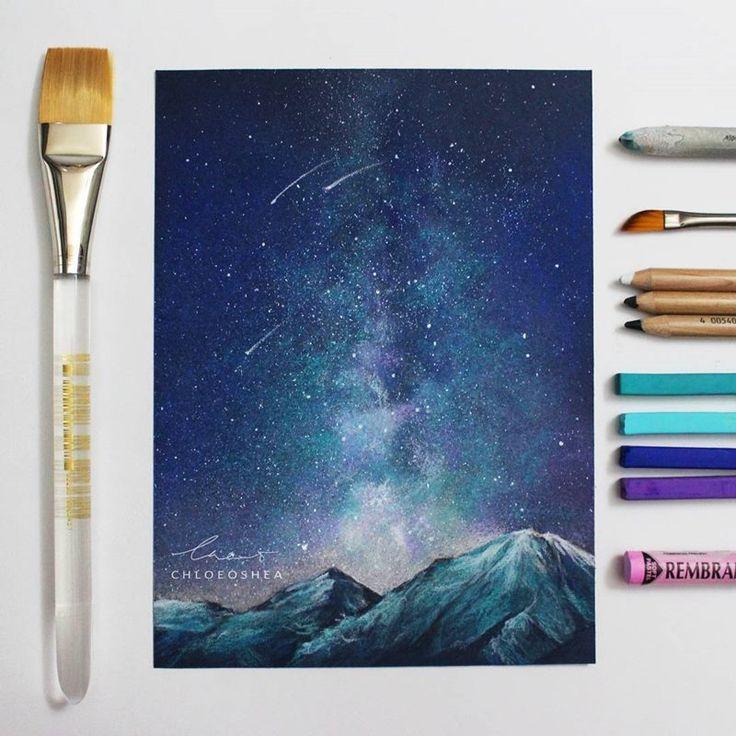Sanatlı Bi Blog Kuru Boya ve Ellerini Kullanarak Harika Resimler Yapan Genç Sanatçı: 'Chloe O'Shea' 12