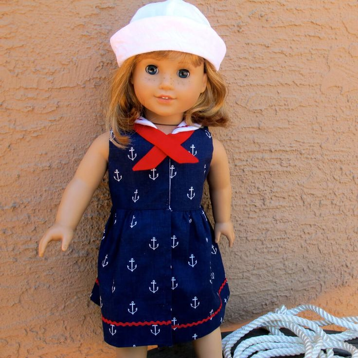 Sailor dress and sailor hat patterns for 18″ doll such as American Girl or Australian Girl, made to match the original Tie Dye Diva Seaside Sailor patterns! Both patterns are included in this pattern bundle. Seaside Sailor Dress and Seaside Sailor Hat patterns for dolly look just like the girl-sized patterns but are redesigned for …