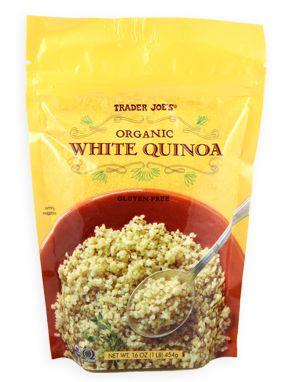 Trader Joe's Organic White Quinoa 16oz/454g  $4.99 Greek Quinoa Salad http://www.traderjoes.com/recipes/recipe/86
