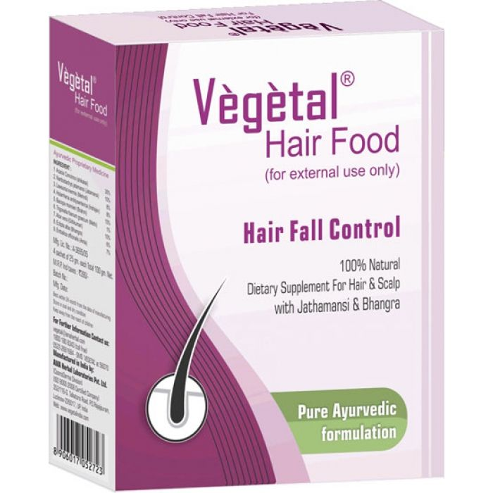 Vegetal Hair Food is an approved ayurvedic medicine.