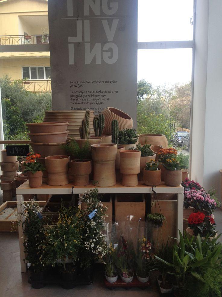 Terracotta pots @ nicknack.gr