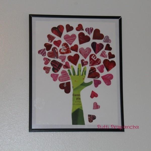 Открытка дерево с сердечками своими руками, днем