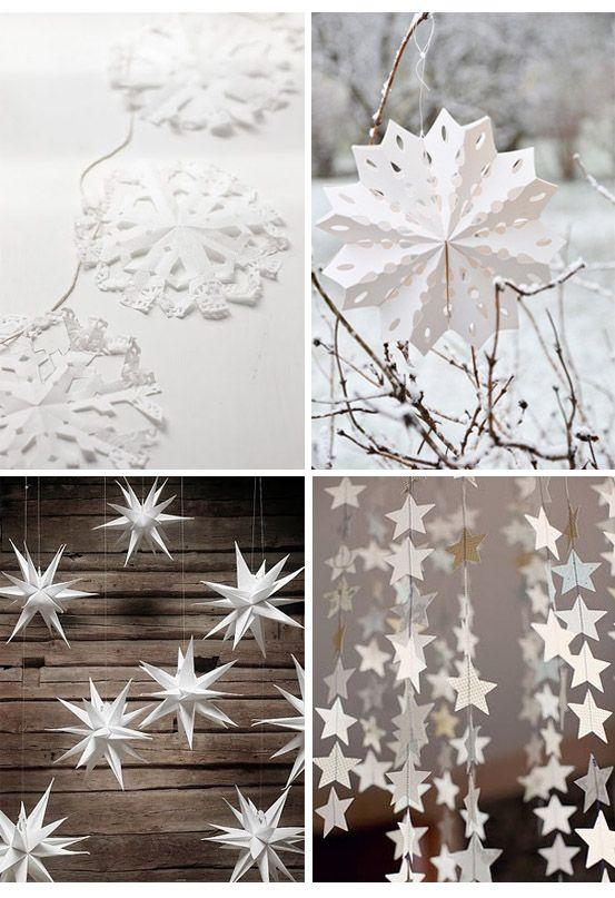 white winter decor