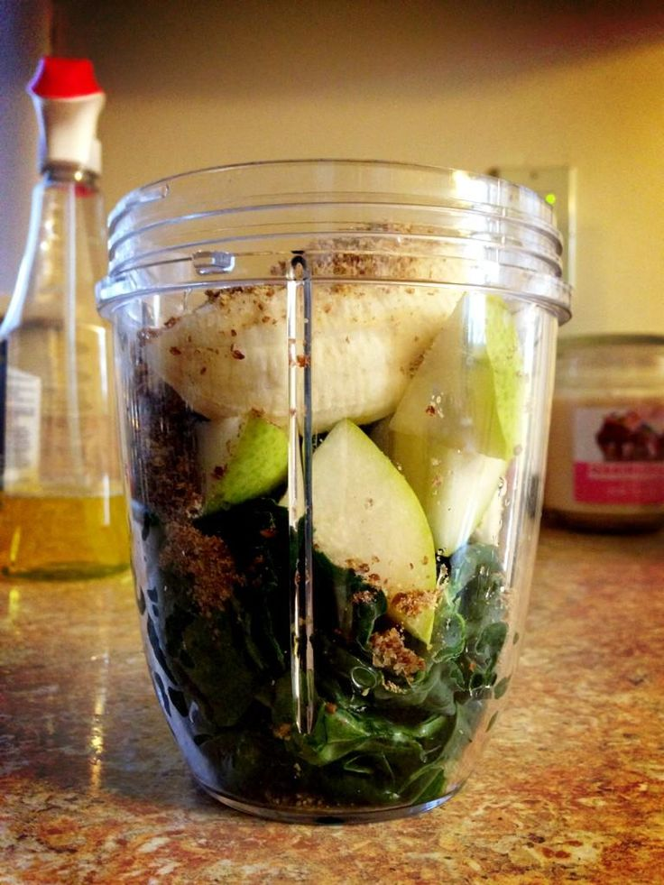 Kale, pear, banana, and flax seeds. Here's to another work day! #NutriBullet #breakfast #nutriblast