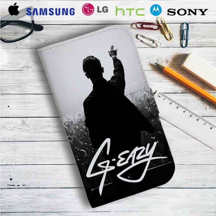 G-Eazy Concert Leather Wallet iPhone 4/4S 5S/C 6/6S Plus 7  Samsung Galaxy S4 S5 S6 S7 NOTE 3 4 5  LG G2 G3 G4  MOTOROLA MOTO X X2 NEXUS 6  SONY Z3 Z4 MINI  HTC ONE X M7 M8 M9 CASE
