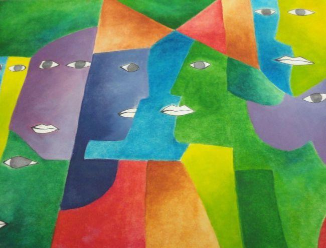 Peinture personnage en couleur