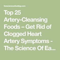Top 25 Artery-Cleansing Foods – Get Rid of Clogged Heart Artery Symptoms - The Science Of Eating
