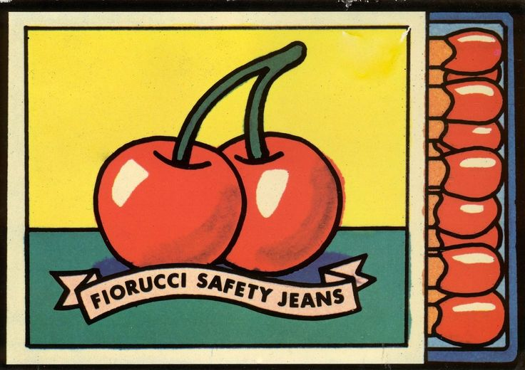 Fabulous Fiorucci fashion graphics informed by pop art's appropriation of everyday objects. Fiorucci was hugely influential in the 80s and its vibrant aesthetic continues to inspire fashion designers and creative directors