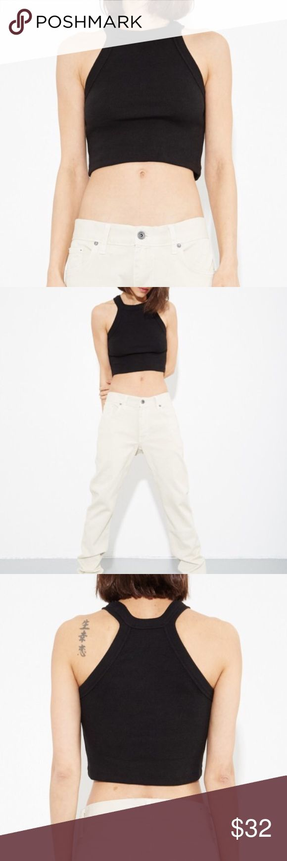 OAK ribbed crop top Ribbed halter neck crop top by A/OK. Purchased at Oak NYC boutique in LA. Oak Tops Crop Tops