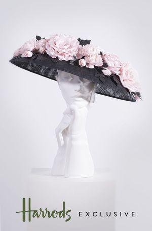 Super Floral Coolie in Black and Pink