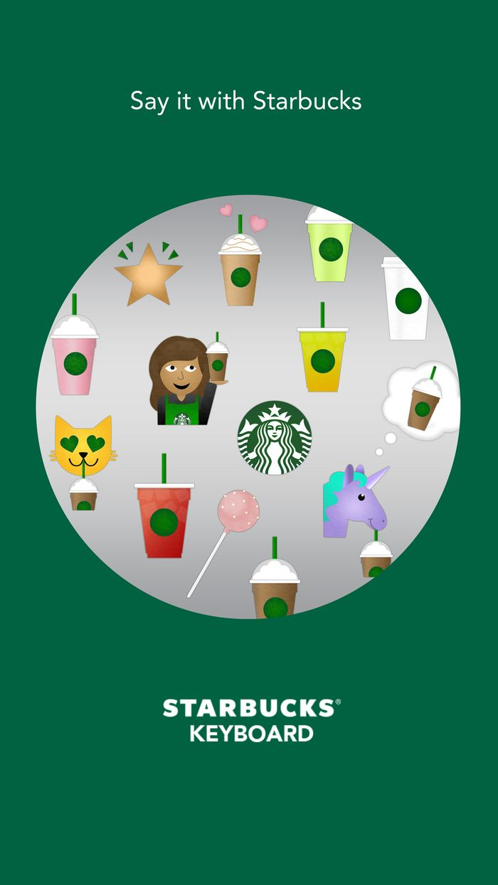 A Starbucks Emoji Keyboard Exists Now, Finally Giving Us A Way To Express Our Innermost Thoughts & Desires | Bustle