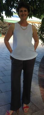 Tessuti Kate in cotton crepe voile. Style Arc Tessa pants.