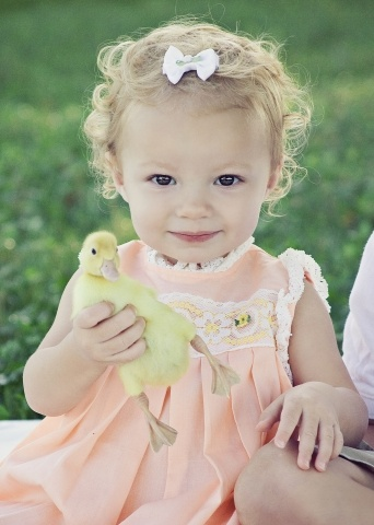 My sweet Harper and the cute ducky!