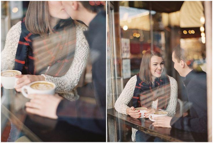Nashville Coffee Shop Engagement | Nashville and Destination Wedding Photography | Nashville Film Photographer | Nashville Weddings | Julie Paisley Photography