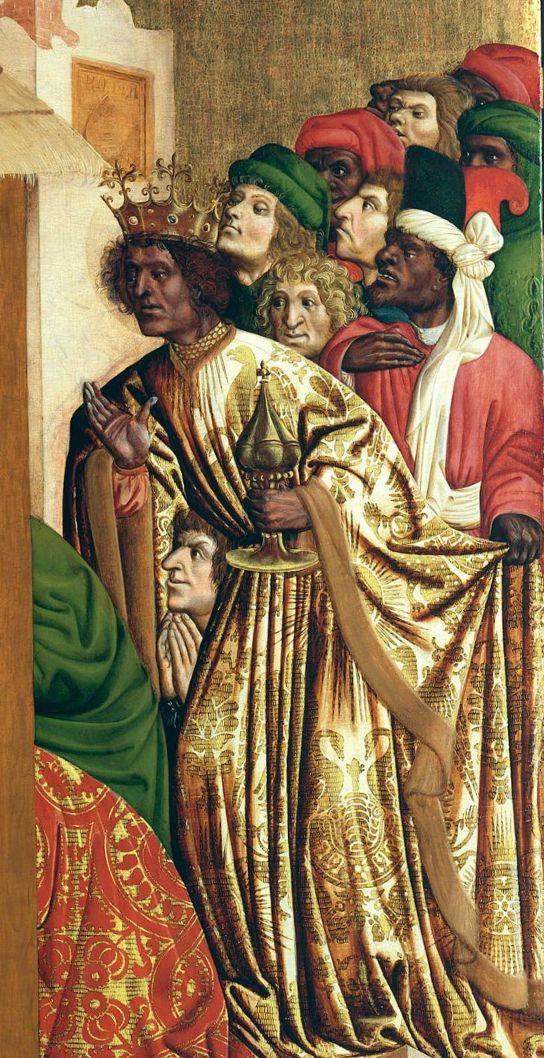 Hans Multscher  Adoration of the Magi*  outer wing from the Wurzach Altarpiece [Die Anbetung der Könige; Außenflügel des Wurzacher Altars (rechts oben)]  Germany (1437)  oil on fir panel  150 x 140 cm