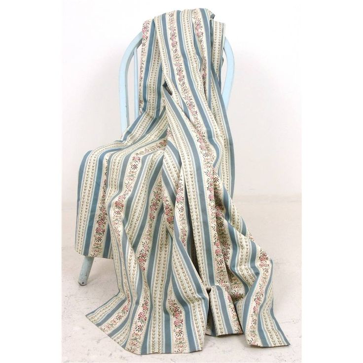 Vintage Multicoloured Striped Nordic Style Pair of Curtains