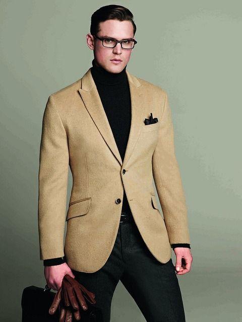 Camel cashmere blazer = essential