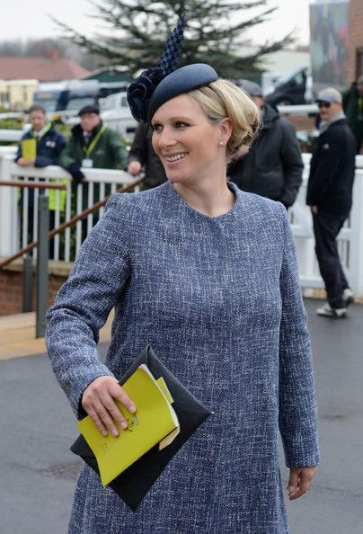 Zara Phillips arrives on Day 3, Grand National day, of the Aintree races at Aintree Racecourse on April 5, 2014 in Liverpool, England.